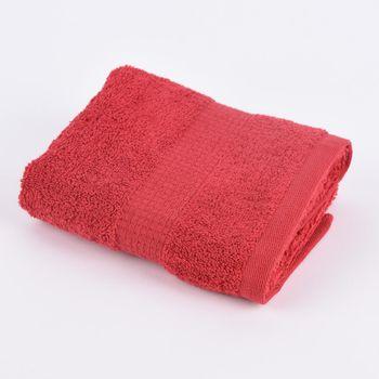 Qualitätsfrottee Handtuch 100% Baumwolle 500g/qm rot – Bild 5