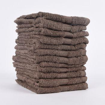 12er Set Gästehandtücher 30x50cm Qualitätsfrottee 100% Baumwolle 500g/qm einfarbig – Bild 4