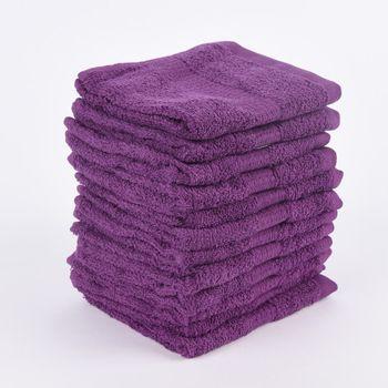 12er Set Gästehandtücher 30x50cm Qualitätsfrottee 100% Baumwolle 500g/qm einfarbig – Bild 9
