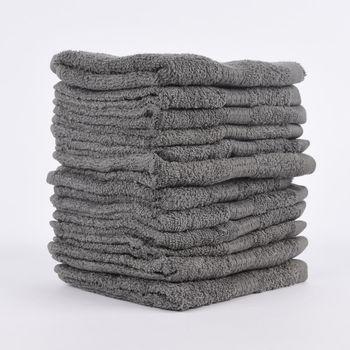 12er Set Gästehandtücher 30x50cm Qualitätsfrottee 100% Baumwolle 500g/qm einfarbig – Bild 2