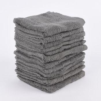 12er Set Gästehandtücher 30x50cm Qualitätsfrottee 100% Baumwolle 500g/qm einfarbig – Bild 3