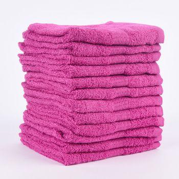 12er Set Gästehandtücher 30x50cm Qualitätsfrottee 100% Baumwolle 500g/qm einfarbig – Bild 22