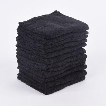 12er Set Gästehandtücher 30x50cm Qualitätsfrottee 100% Baumwolle 500g/qm einfarbig – Bild 19