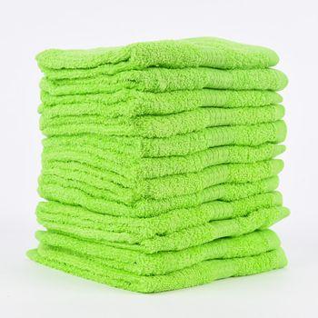 12er Set Gästehandtücher 30x50cm Qualitätsfrottee 100% Baumwolle 500g/qm einfarbig – Bild 16