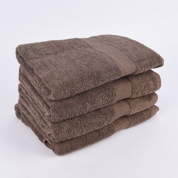 4er Set Duschtücher 70x140cm Qualitätsfrottee 100% Baumwolle 500g/qm einfarbig – Bild 6