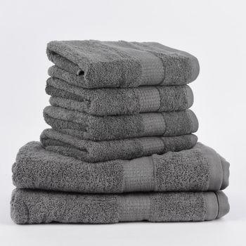 6tlg Singleset Qualitätsfrottee 100% Baumwolle 500g/qm einfarbig – Bild 3