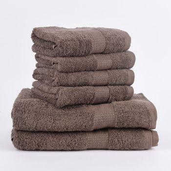 6tlg Singleset Qualitätsfrottee 100% Baumwolle 500g/qm einfarbig – Bild 5