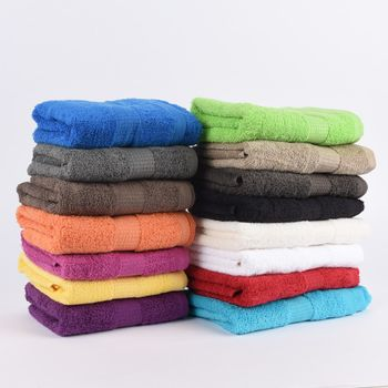28tlg Familienset Qualitätsfrottee 100% Baumwolle 500g/qm einfarbig – Bild 1