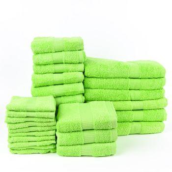 28tlg Familienset Qualitätsfrottee 100% Baumwolle 500g/qm einfarbig – Bild 17