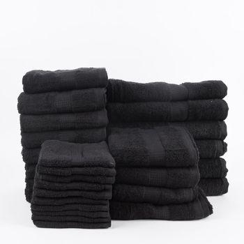 28tlg Familienset Qualitätsfrottee 100% Baumwolle 500g/qm einfarbig – Bild 19