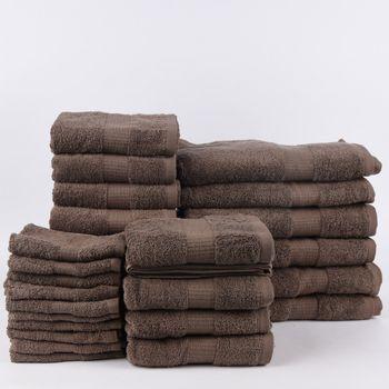 28tlg Familienset Qualitätsfrottee 100% Baumwolle 500g/qm einfarbig – Bild 5
