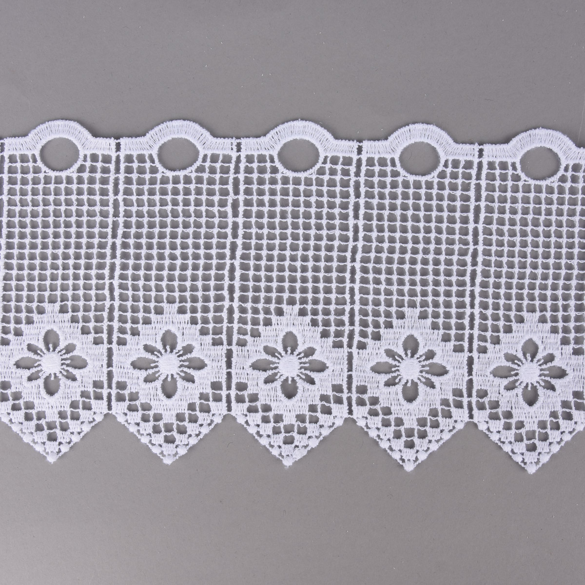 Bistrogardine Scheibengardine Meterware Stickerei Stern weiß Breite:30cm