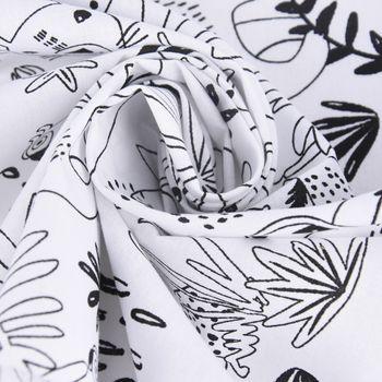 Baumwollstoff Ausmalstoff PAYAKOLO Urwald Tiere Affe Löwe Papagei Faultier 1,5m Breite – Bild 4