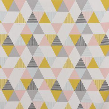 Clarke & Clarke STUDIO G Englischer Dekostoff Baumwollstoff Polsterstoff Brio Dreiecke Sorbet rosa senf blau grau 138cm Breite – Bild 1