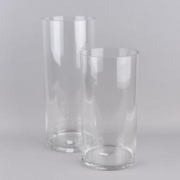 XXL Vase zylinderförmig Glas farblos 20x40cm – Bild 4