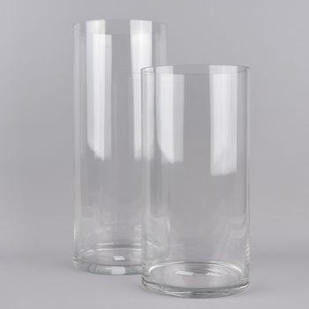 XXL Vase zylinderförmig Glas farblos 20x50cm – Bild 4
