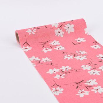 Deko Tischband Streublumen rosa weiß 30x300cm – Bild 1