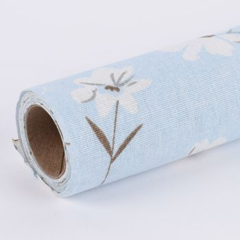 Deko Tischband Streublumen hellblau weiß 30x300cm – Bild 3