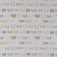 Fryett`s Englischer Dekostoff Baumwollstoff Halbpanama Cool Cats Katzen natur 138cm Breite 001