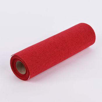 Deko Tischband Jute einfarbig rot 30x300cm – Bild 1