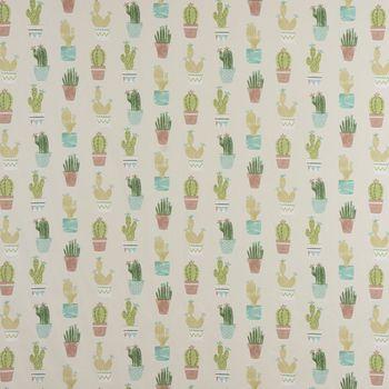 Fryett`s Englischer Dekostoff Baumwollstoff Halbpanama Cactus Kaktus Kakteen natur grün 138cm Breite – Bild 1
