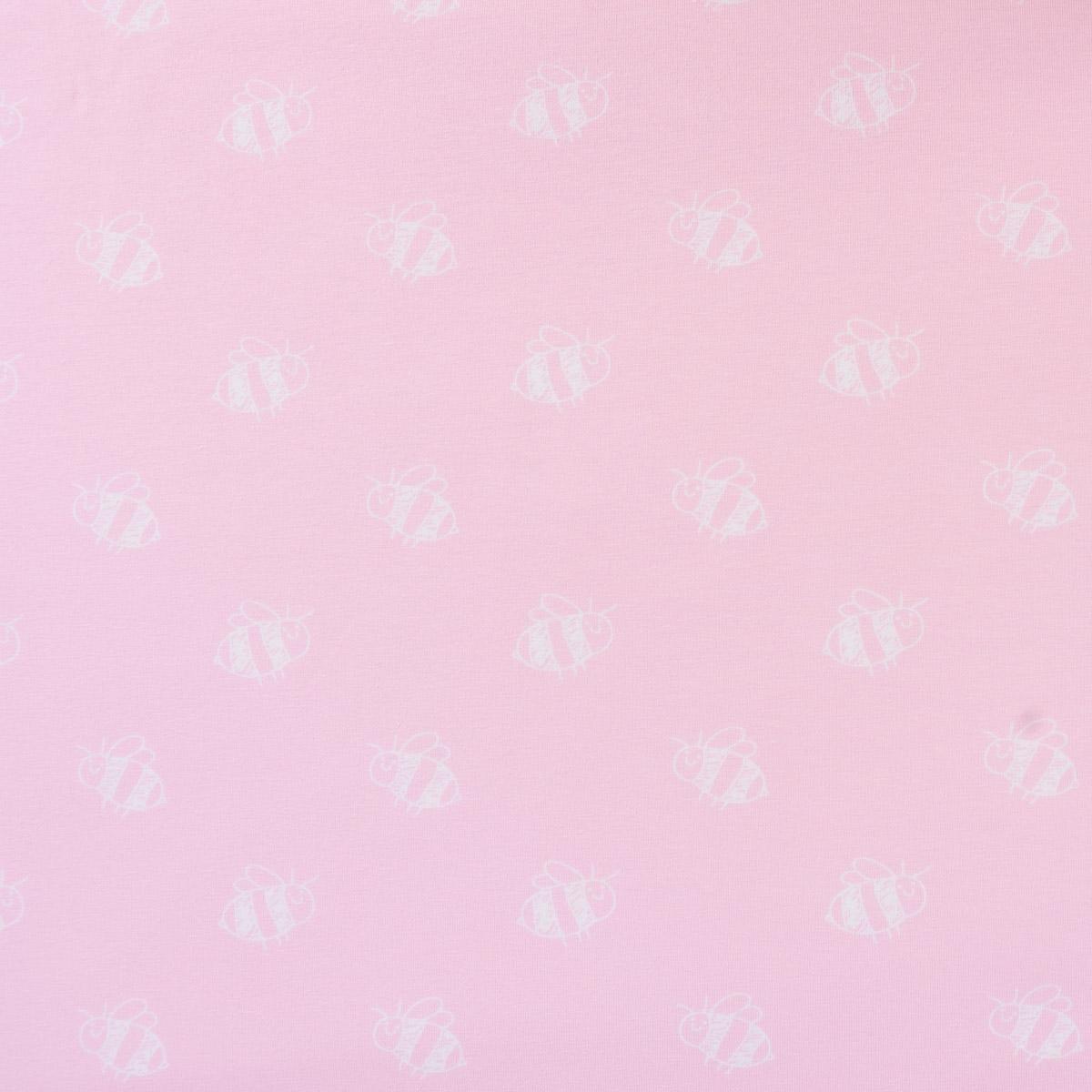 Jersey Stenzo Biene rosa weiß 1,50m Breite