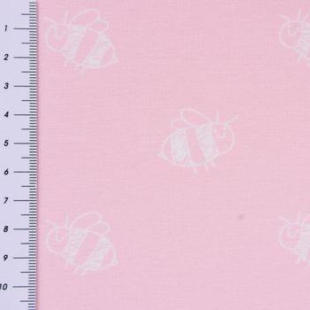 Jersey Stenzo Biene rosa weiß 1,50m Breite – Bild 3