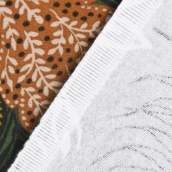 Dekostoff Baumwolle ZOOP Blumen Zebra grün braun weiß schwarz 1,5m Breite – Bild 5