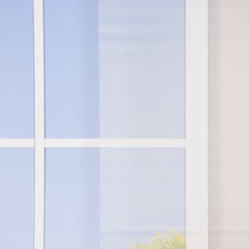 Schiebevorhang Gittergewebe einfarbig weiß 245x60cm – Bild 1