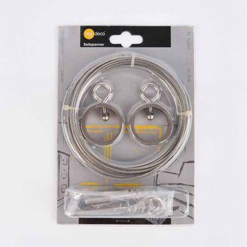 Seilspanngarnitur edelstahlopik mit Ring und Drahtseil 5m – Bild 1
