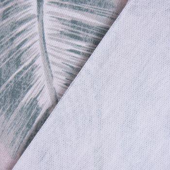 SCHÖNER LEBEN. Tischläufer Palmenblätter Digitaldruck taupe grün 40x160cm – Bild 6