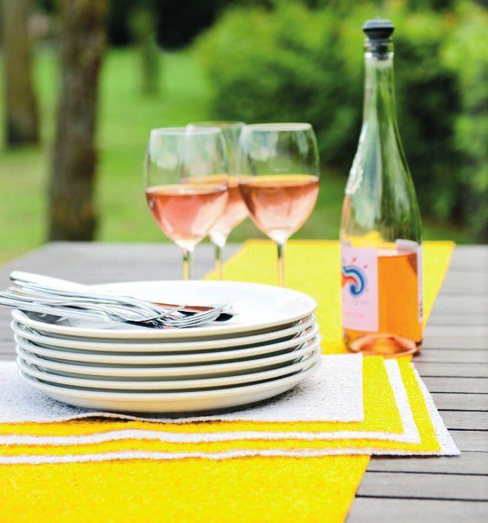 Miami Tischband Tischläufer 30x240cm rosa