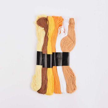 Stickgarn 6 Stück abgestimmte Farben Gelbtöne 1mmx8m – Bild 1