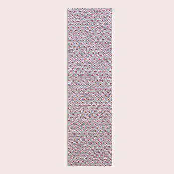 SCHÖNER LEBEN. Tischläufer Dreiecke Retro weiß grau rot 40x160cm – Bild 1
