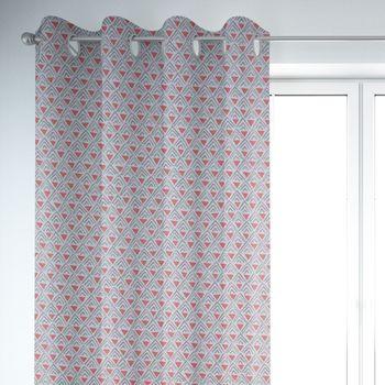 SCHÖNER LEBEN. Vorhang Dreiecke Retro weiß grau rot 245cm oder Wunschlänge – Bild 6