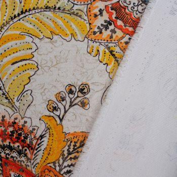 SCHÖNER LEBEN. Tischläufer Blumen Ornament weiß beige bunt 40x160cm – Bild 6