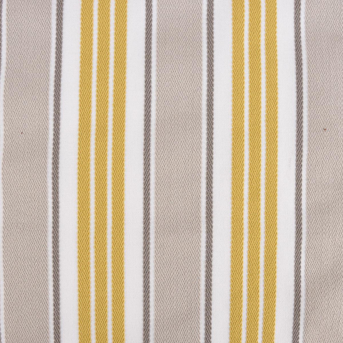 Fryett`s Englischer Dekostoff Polsterstoff Princeton Streifen gelb grau 138cm Breite