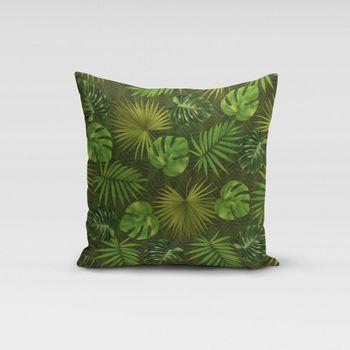 SCHÖNER LEBEN. Kissenhülle Dralon Teflonbeschichtung Palmen Blätter grün – Bild 14