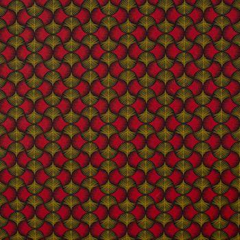 SCHÖNER LEBEN. Kissenhülle Ginkgo Blätter rot ocker schwarz – Bild 6