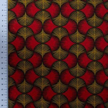 SCHÖNER LEBEN. Vorhang Ginkgo Blätter rot ocker schwarz 245cm oder Wunschlänge – Bild 10