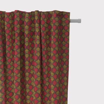 SCHÖNER LEBEN. Vorhang Ginkgo Blätter rot ocker schwarz 245cm oder Wunschlänge – Bild 2