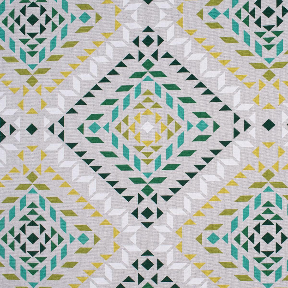Kissenhülle Dreiecke Vierecke natur weiß grün verschiedene Größen SCHÖNER LEBEN