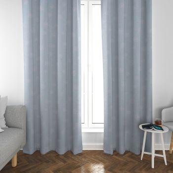 SCHÖNER LEBEN. Vorhang Pusteblumen hellblau weiß 245cm oder Wunschlänge – Bild 3
