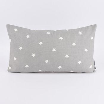 SCHÖNER LEBEN. Kissenhülle Twinkle Sterne grau weiß 30x50cm – Bild 1