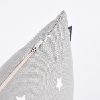 SCHÖNER LEBEN. Kissenhülle Twinkle Sterne grau weiß 30x50cm – Bild 5