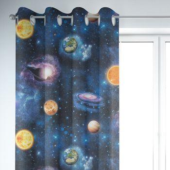SCHÖNER LEBEN. Vorhang Weltall Weltraum Planeten Erde blau bunt 245cm oder Wunschlänge – Bild 6