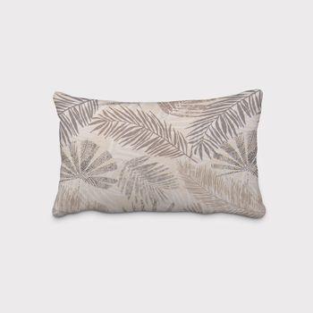 SCHÖNER LEBEN. Kissenhülle Palmenblätter natur braun grau – Bild 11