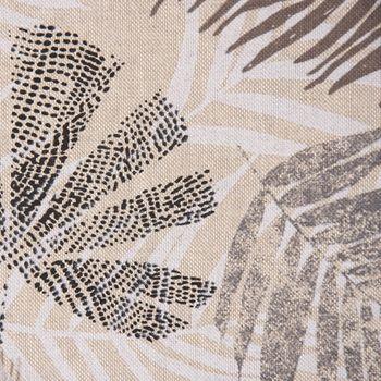 SCHÖNER LEBEN. Vorhang Palmenblätter natur braun grau 245cm oder Wunschlänge – Bild 10