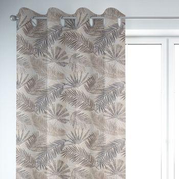 SCHÖNER LEBEN. Vorhang Palmenblätter natur braun grau 245cm oder Wunschlänge – Bild 6