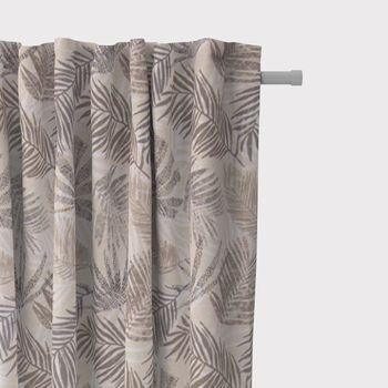 SCHÖNER LEBEN. Vorhang Palmenblätter natur braun grau 245cm oder Wunschlänge – Bild 2